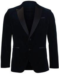 BOSS by Hugo Boss Helward4_1 Velvet Jacket - Blue