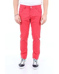 Entre Amis Trousers Chino Men Red