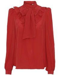 Custommade• Peri Silk Shirt - Chinese Red