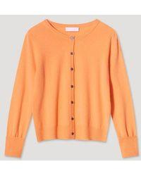 Cocoa Cashmere Cc3016 Chloe Cardigan - Canteloupe - Orange