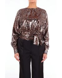 MSGM Shirts Blouses Women Bronze - Metallic
