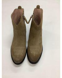 Marc Cain Short Beige Cowboy Style Boot Mb Sb.11 L37 - Brown