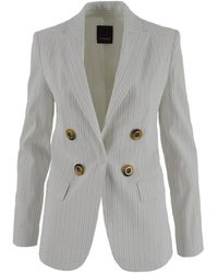 Pinko Lightning 1 Jacket Linen Stretch - White