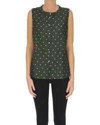 Massimo Alba Polka Dot Print Sleeves Shirt - Green