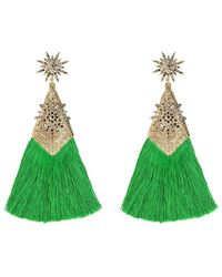 Thale Blanc Panther Earrings - Green