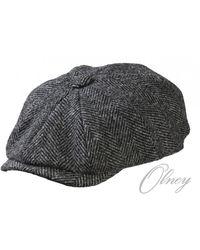 5ebbb204f Harris Tweed Baker Boy Cap - Gray