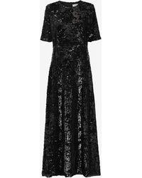 Just Female Beaded Maxi Dress - Black