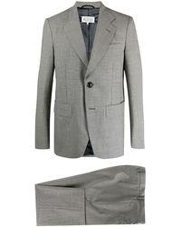 Maison Margiela Mini-houndstooth Single-breasted Suit - Gray