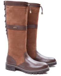 Dubarry Glanmire Ladies Knee High Leather Boots - Brown