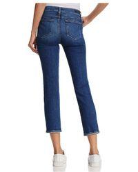 PAIGE - Paige Jacqueline Straight Leg Jeans In Lane Distressed Blue - Lyst
