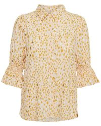 Part Two Caias Gold Shirt - Pink