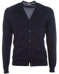 Altea Men's 17512141blue Blue Cotton Cardigan