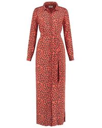 POM Amsterdam Fountain Coins Coral Dress - Red