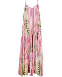 Devotion New Season - Long Zakar Dress Multi - Pink