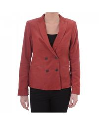 Maison Scotch Womens Double Breasted Blazer - Red