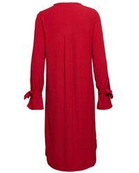 COSTER COPENHAGEN - Shirt Dress In Wine Red - Lyst