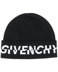 Givenchy Men's Gvcappu18423 Black Wool Hat