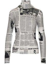 Balenciaga Women's 628702tjlj99040 White Polyamide T-shirt