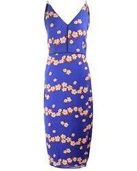 Scotch & Soda Scotch & Soda Printed Slip Dress - Blue