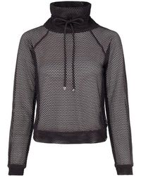 Koral Pump Open Mesh Pullover - Black