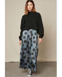 Hartford Joana Print Skirt - Black