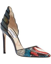Lucy Choi Diana Snake Print - Red
