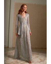 Cecilia Prado Silver Maite Maxi Knit Dress - Metallic