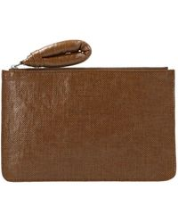 Lemaire Women's X211ac305lf345453 Brown Other Materials Wallet