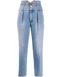 Pinko Women's 1j10e1y64qg46 Light Blue Cotton Jeans