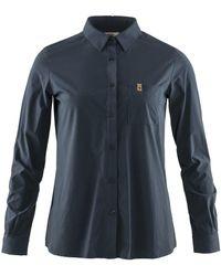 Fjallraven Fjallraven Ovik Lite Shirt Ls Navy - Blue