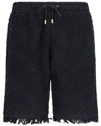 Marine Serre Women's Pu01005 Black Cotton Shorts