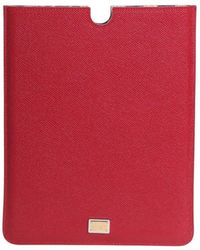 Dolce & Gabbana Leather Ipad Case - Red