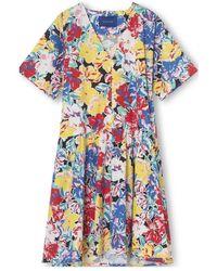 Résumé Rã©sumã© Copenhagen Vera Dress Oversize Flower Print - Blue