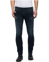 Replay Hyperflex Anbass Slim Fit Jean Dark Blue Colour: Dark Blue, Siz