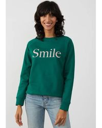 South Parade Rocky Smile Cotton Sweatshirt - Forest - Green