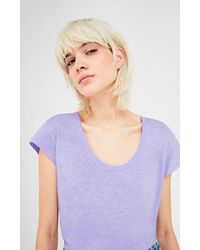 American Vintage Womens Relaxed T-shirt In Mauve (lilac) Lorkford - Purple