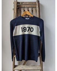 Bella Freud 1970 Navy Cashmere Jumper - Blue