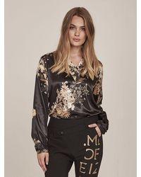 NÜ Gete Floral Print Blouse - Black