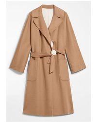Weekend by Maxmara Reversible Camel And Cream Wool Coat Balta 50110107 - Brown