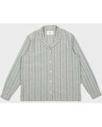 Folk Long Sleeve Soft Collar Shirt - Grey
