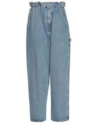 Miu Miu Women's Gwp3491sxof0008 Blue Cotton Jeans