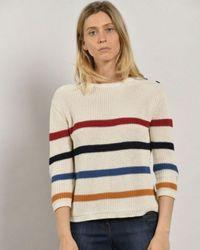Mat De Misaine Trio Stripe Knitted Sweater - Multicolor
