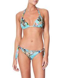 Camilla Women's Halter Side Tri Tie Bikini 258/266 - Blue