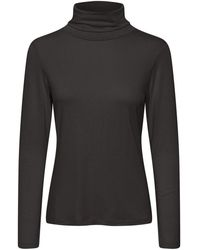 Part Two Efinas Roll Neck Jersey T-shirt - Black