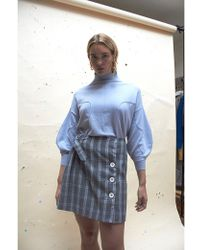 House Of Sunny Heritage Kilt Skirt - Blue