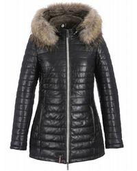 Oakwood Poppy Leather Jacket - Black