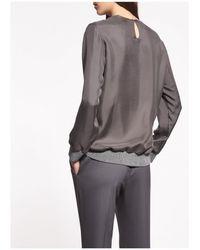 Fabiana Filippi Women's Tp93917 Gray Silk Top