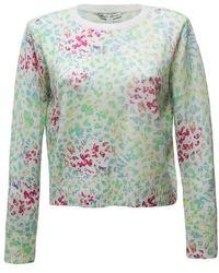 Autumn Cashmere Pastel Leopard Sweater - Gray