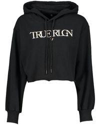 True Religion Logo Hoody - Black