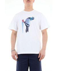 Pam Men's 359bbianco White Cotton T-shirt